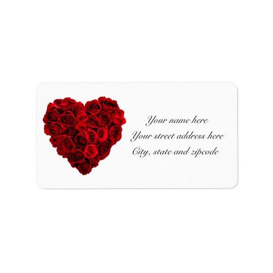 Rosa hjärtaadressetiketter adressetikett