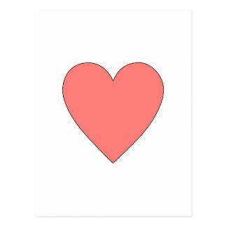 Rosa hjärtaanpassade vykort