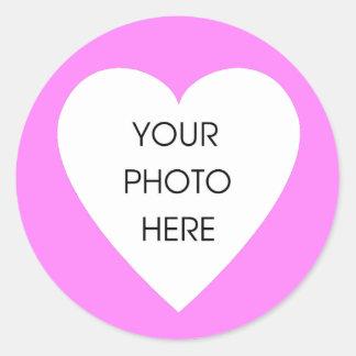 Rosa hjärtagränsklistermärkear runt klistermärke