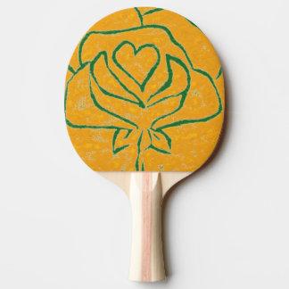 """""""Rosa hjärtagult - den grönt"""" pingen Pong paddlar Pingisracket"""