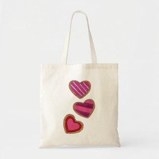 Rosa hjärtahjärtavalentin toto för kaka för kärlek tygkasse