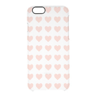 Rosa hjärtamönster clear iPhone 6/6S skal