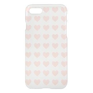 Rosa hjärtamönster iPhone 7 skal