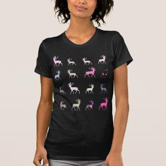Rosa hjortmönster t shirt