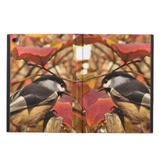 Rosa höstlövverk med Chickadeefåglar Powis iPad Air 2 Skal