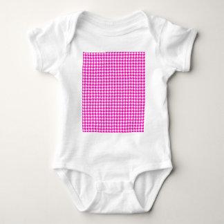 Rosa Houndstooth mönster Tee Shirt