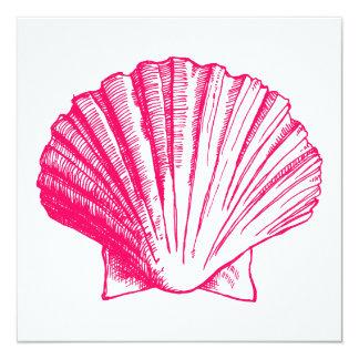 Rosa inbjudan för havssnäckaLuau mottagande