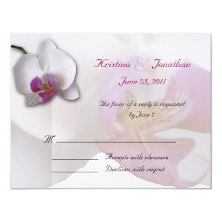 Rosa inbjudan för OrchidOSA 5.5x4.25