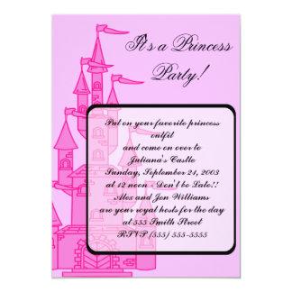 """Rosa inbjudningar """"för Princess Festa"""""""