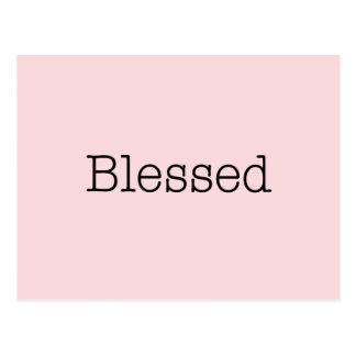 Rosa inspirera trocitationstecken för välsignade vykort