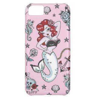 Rosa Iphone 5 för luddMollysjöjungfru fodral iPhone 5C Fodral