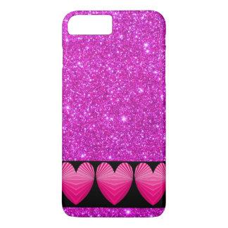 Rosa iphone case för glitter för Sarpkly