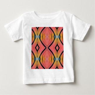 Rosa Kaleidoscopemönster för kall chic persika T-shirt