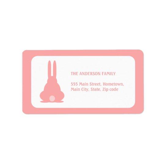 Rosa kanin adressetikett