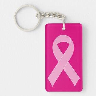 Rosa keychains för bandbröstcancermedvetenhet nyckelring