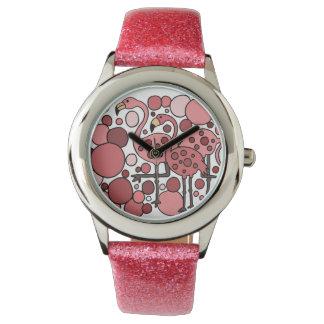 Rosa klocka för Flamingoabstraktkonst