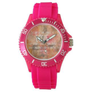 rosa klocka för söt flickaktigt