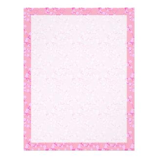 Rosa körsbärblommar brevhuvud