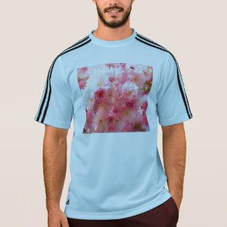 Rosa körsbärsröd blommar tee shirt