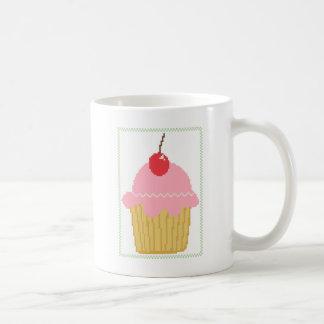 rosa körsbärsröd muffin kaffemugg
