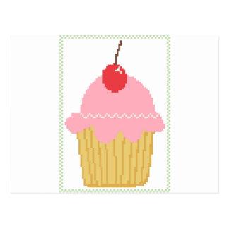 rosa körsbärsröd muffin vykort