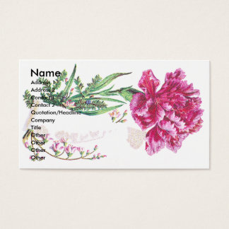 Rosa kort för handel för nejlikabukettVictorian
