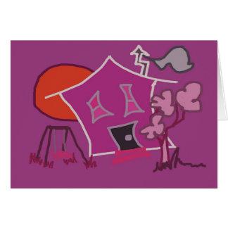 Rosa kort för konsthushälsning