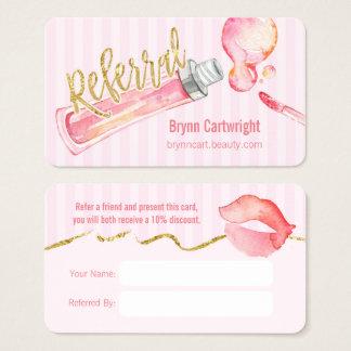 Rosa kort för Lipgloss och randMakeupremiss