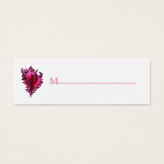Rosa kort för placering för bord för