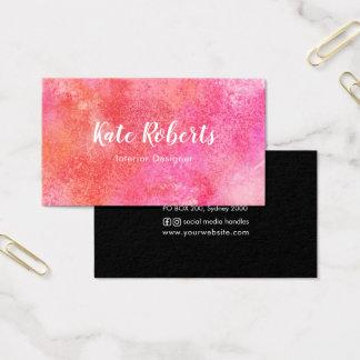 Rosa kreativ för vattenfärgvisitkort | visitkort