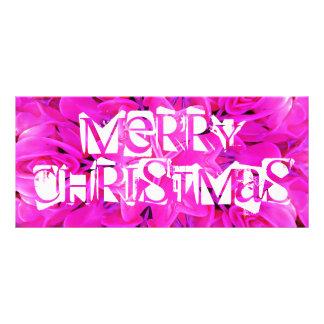 Rosa kuggekort för god jul reklamkort