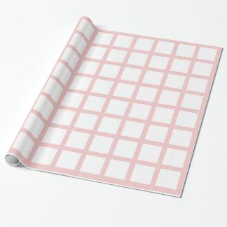 Rosa kvart kvadrerar inverterat slå in papper presentpapper