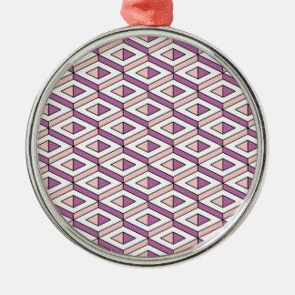 rosa kvartar för geometri 3d julgransprydnad metall