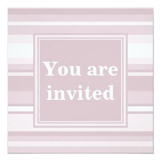 Rosa kvartrandar för Monogram Fyrkantigt 13,3 Cm Inbjudningskort