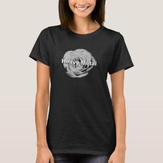 Rosa kvinna för svartvit heavy metal T-tröja Tröjor