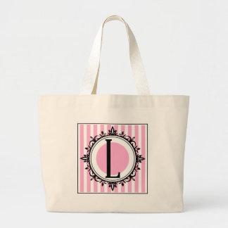 Rosa L monogram Tote Bags