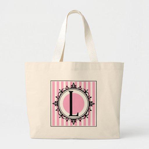 """Rosa L"""" monogram Tote Bags"""