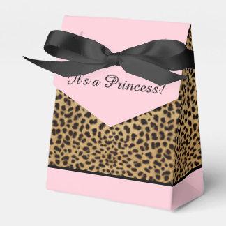 Rosa LeopardPrincess baby shower Presentaskar