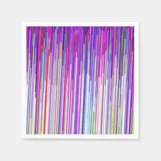 Rosa lilarandar för modernt abstrakt neon servett