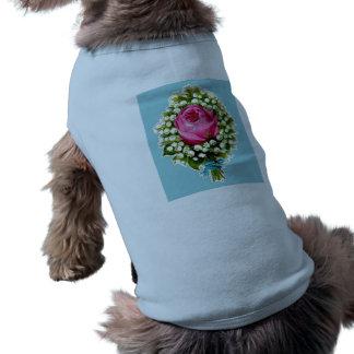 Rosa liljar för Retro bukett för vintage blom- Långärmad Hundtöja