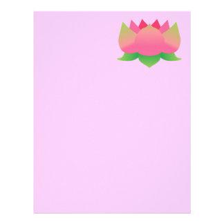 Rosa lotusblommablomma brevhuvud