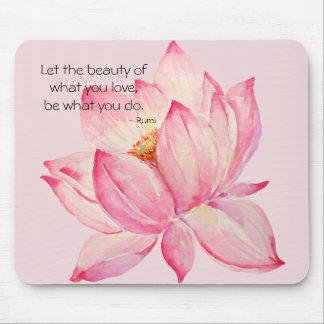 Rosa lotusblommablomma musmatta