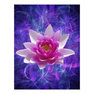 Rosa lotusblommablomma och menande brevhuvud