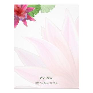 Rosa lotusblommabrevhuvudbrevpapper brevhuvud