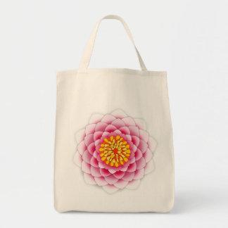 Rosa lotusblommaMandala Tygkasse