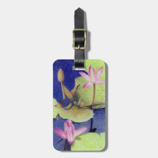 Rosa lotusblommanäckros bagagebricka