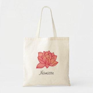 Rosa lotusblommaNamaste toto Budget Tygkasse