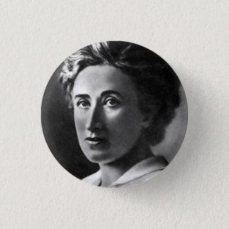 Rosa Luxemburg klämmer fast Mini Knapp Rund 3.2 Cm