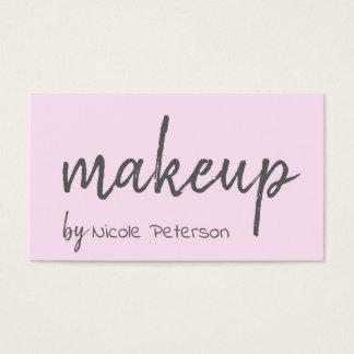 Rosa Makeupkonstnär för djärv text Visitkort
