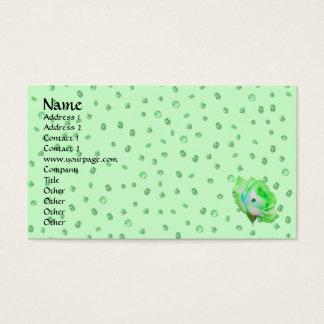 Rosa mall för irländare visitkort